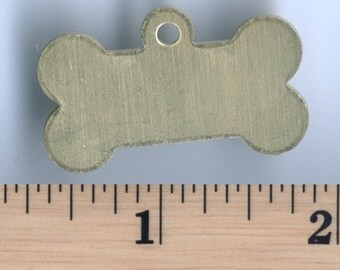 Brass Dog Bone Tag - Package of 5 (DR-016)