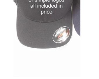 Custom embroidered hats- monogrammed hats, custom logo hats, business logo hats