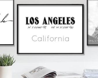 Los Angeles Print, Los Angeles, Los Angeles Printable Wall Art, LA Poster, LA Printable, LA, Los Angeles City Sign, La Instant Download