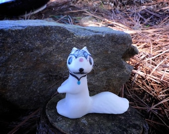 Porcelain Forrest Animals- Sugar Skull SQUIRREL- tail down