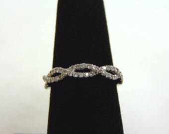 Women's 14K White Gold Diamond Ring 2.7g E3512