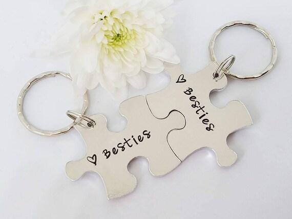 Besties Puzzle Keyrings