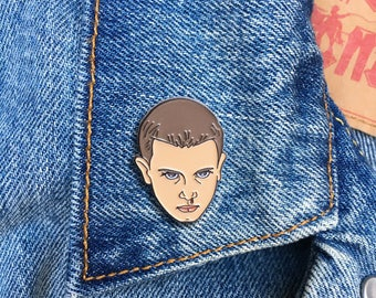 Eleven Pin, Soft Enamel Pin, Lapel Pin, Stranger Things, Gift, Jewelry, Art (PIN65)