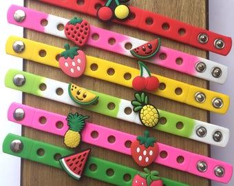 Tutti Frutti Fruit Charm Bracelets PARTY FAVORS
