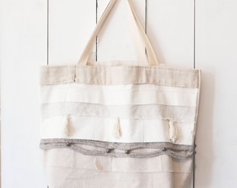 Upcycled One-Of-A-Kind Scrappy Tote Bag 7
