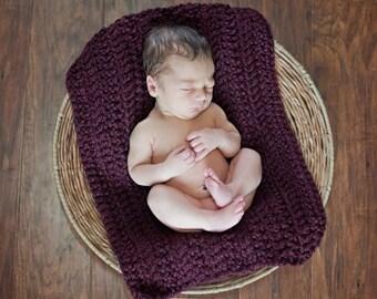 Baby Blanket Red Wine Baby Blanket Red Baby Blanket Newborn Photo Prop Newborn Baby Blanket Baby Girl Blanket Baby Boy Blanket Crochet Knit