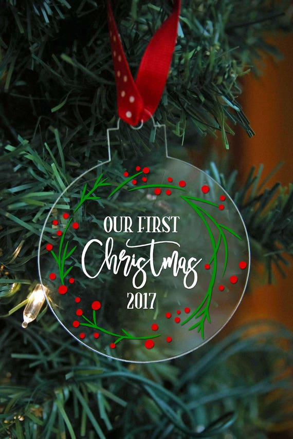 Our First Christmas Ornament Married Wedding Gift for
