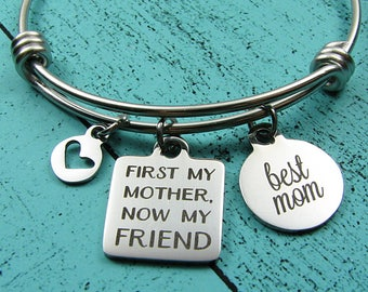 best Mom gift bracelet, Mother's Day jewelry, Mother of the bride gift from daughter, Mom birthday gift, Christmas, wedding gift for Mom
