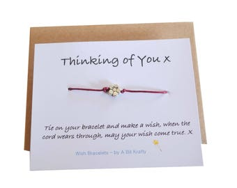 Thinking of You, Friendship Wish Bracelet with Envelope