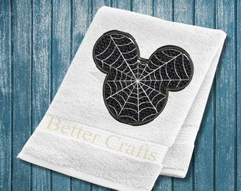 Mickey Mouse Spider Man Halloween Machine Embroidery Design