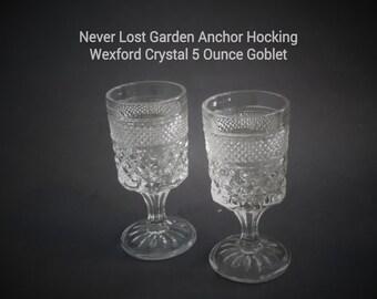 Anchor Hocking Crystal Wexford 5 Ounce Claret Wine Goblet Vintage