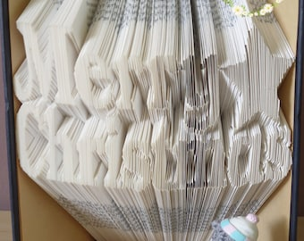 Book Folding Pattern Merry Christmas With Star - Instant Download PDF (600 Folds) With Tutorial