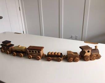 Six Car Wood Toy Train