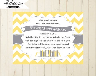 Baby Shower Book Request Bring A Book Instead Of A Card Baby Shower Invite  Book For