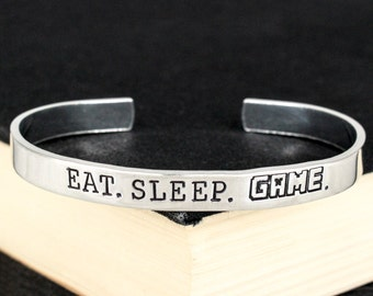 Eat. Sleep. Game. Bracelet - Pixel Games - Retro Video Games - Gamer Gift - Gifts for Gamers - Video Game Jewelry