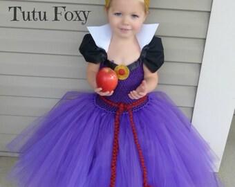 Evil Queen Tutu Dress Evil Queen Costume Snow White Birthday Outfit Snow White Costume Snow White tutu dress villian costume  sc 1 st  Etsy & Queen tutu | Etsy