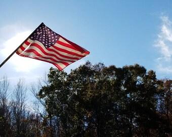Photography print, American flag, wall art