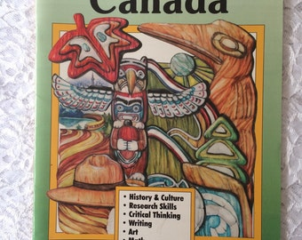 Canada Unit Study Book, Grades 3, 4, 5, 6, Elementary Geography Lessons