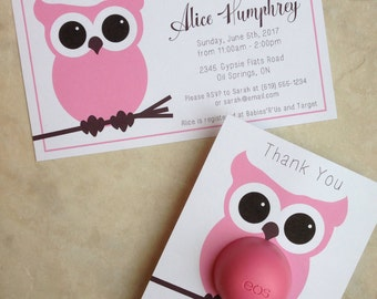 Owl themed baby shower invitation 5x7 printable matching EOS