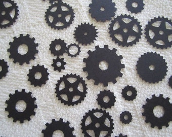 Gear Confetti Mechanical Cogs, Transformer, Autobot, Steampunk Confetti Party Decor Scrapbook Embellishment 100 pc Color Options