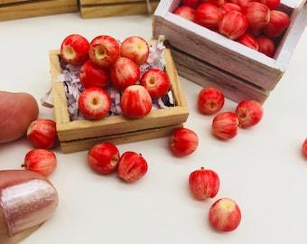 10 pieces Miniature Apple decorate Dollhouse, Miniature fruit 1:12