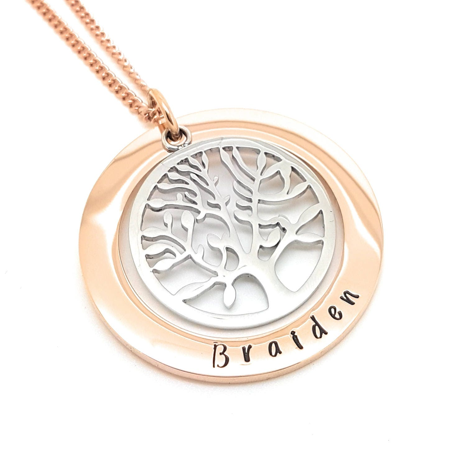 Family names tree of life pendant personalised jewellery hand gallery photo gallery photo aloadofball Image collections