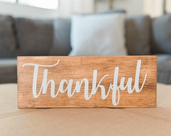 Thankful Wood Signs, Thankful Sign, Fall Farmhouse Sign, Farmhouse Decor, Fall Sign, Fall Decor, Thanksgiving, Home Decor, Wall Sign, Autumn
