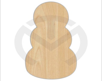 Pumpkins or Snowman Stacked Shape - 01652- Unfinished Wood Laser Cutout, Door Hanger, Ready to Paint and Personalize, Various Sizes