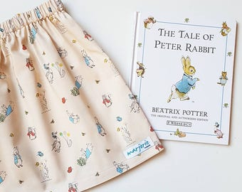 Peter Rabbit cream neutral girls' skirt size 1,2,3,4,5