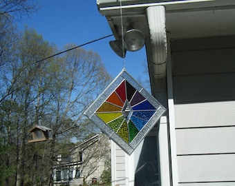 Stained glass suncatcher (panel)