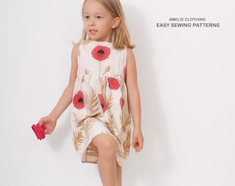 Poppy DRESS pattern - Vintage style - pdf sewing pattern for girls - 3 to 8 years