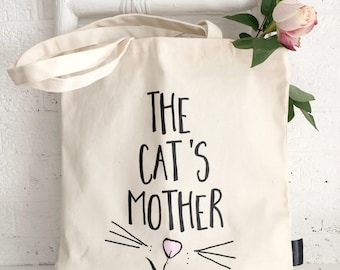 The Cat's Mother | Cat Lover Gift | Funny Cat Gift | Cat Lady | Cat Bag