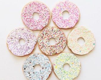 NEW Glitter donut hair clip OR headband