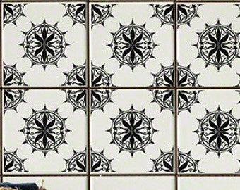 Regency Black RETile Decal - Clear Background