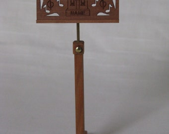 """Dollhouse Miniature Music Stand by Tom Walden 1"""" Scale. (M)"""