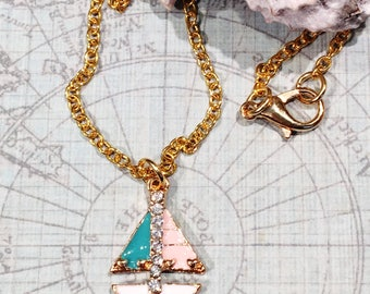Sailboat Necklace, Sailboat Jewelry, Sailing Necklace, Sailing Jewelry, Sailing Gift, Nautical Necklace for Women, Nautical Jewelry