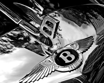 Bentley Badge And Hood Ornament ~  Poster Print