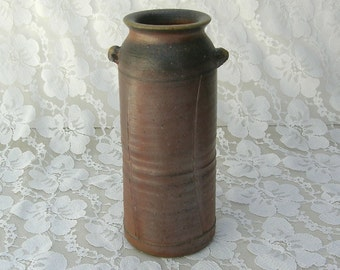 Rustic Bizen Vase, famous Japanese pottery, wood fired, I purchased in Japan, ceramic collectible vase