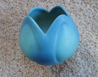 Van Briggle Blue Tulip Vase, Vintage Van Briggle Pottery, Vintage Pottery