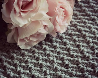 Download Now - CROCHET PATTERN Cobblestone Throw or Scarf - Make to Any Size - Pattern PDF