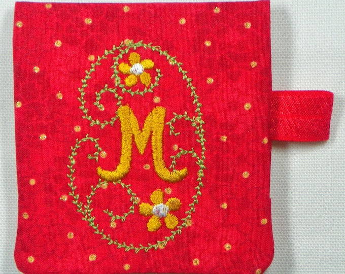 """Post-It Note Holder Project* With Monogram Set and instructions  (27 Designs) * 3.6"""" x 7.7"""" requires minimum 4"""" x 8"""" hoop!"""