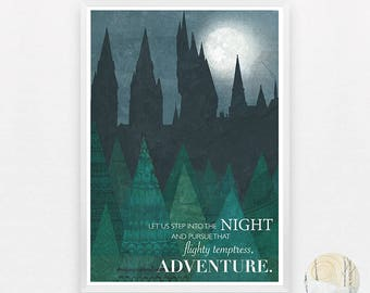 Hogwarts and the Forbidden Forest A3 print