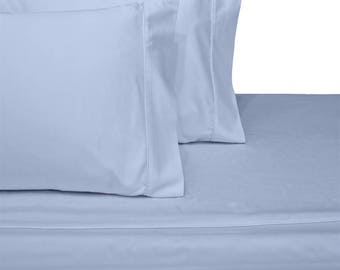 Split CAL King  Adjustable 600TC 100% Cotton CinchFit Sheet Set - Fitted Sheet Does Not Pop Off - Beautiful Made in the USA Product