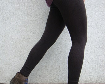Leggings Knitted Pants Merino Longjohns Brown Warm Wool Legwear Merino Fashion Women's Pants