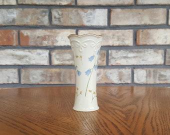 Cute Vintage Lenox Bud Vase Blue Bells Pattern