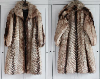 Vintage Women Real Fur Echt Pelz