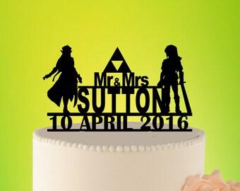 wedding cake topper Link and Zelda L2-01-002