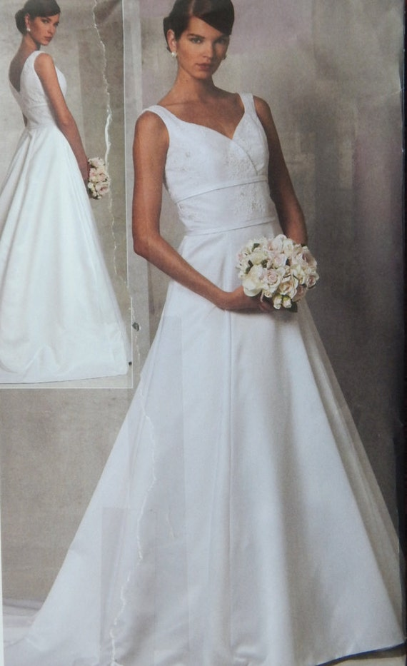 Bridal Gown Sewing Pattern Optional Train/ Vogue 1163 Bridal ...