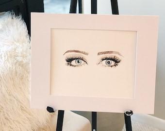 Eyes Original Watercolor