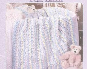 Crochet Baby Afghan Pattern ,Crochet Afghan in ENGLISH Patterns - Crochet blanket - patterns -baby blankets /PDF-Instant Download